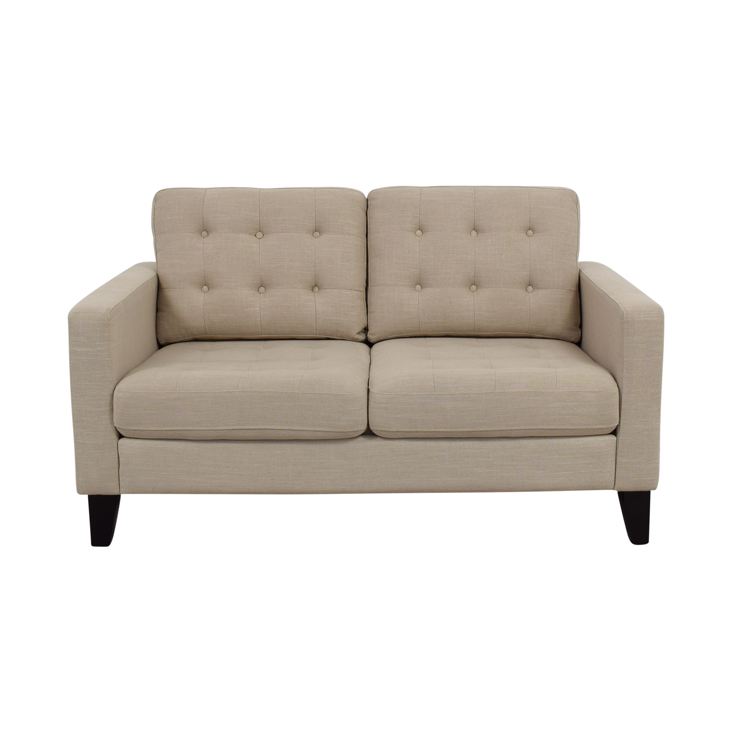 imports pier sofas off tufted putty loveseat tan