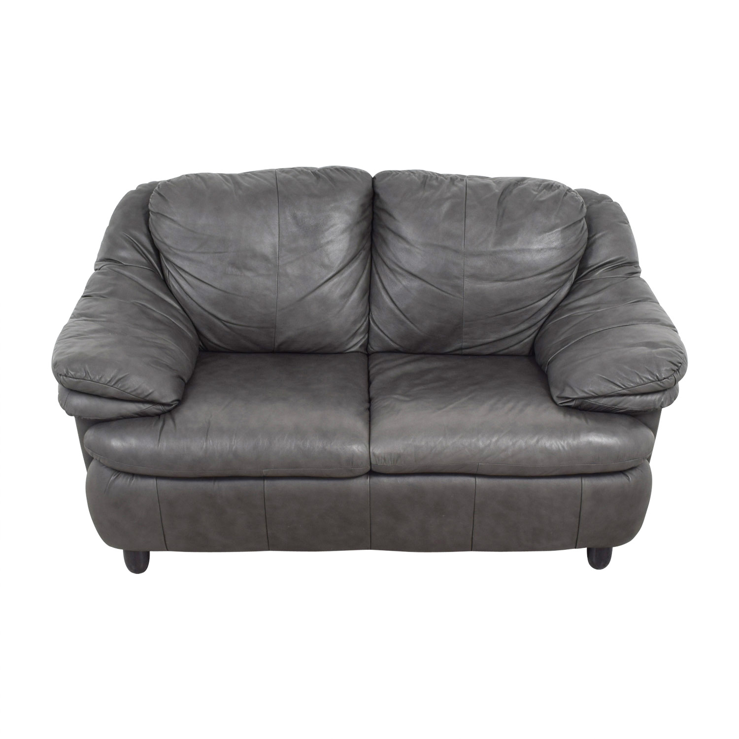 shop Jennifer Leather Natale Grey Love Seat Jennifer Leather