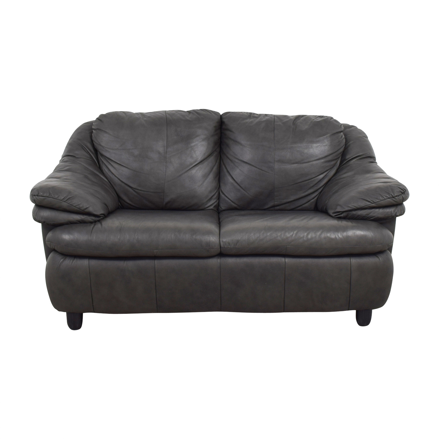 Jennifer Leather Jennifer Leather Natale Grey Love Seat Grey