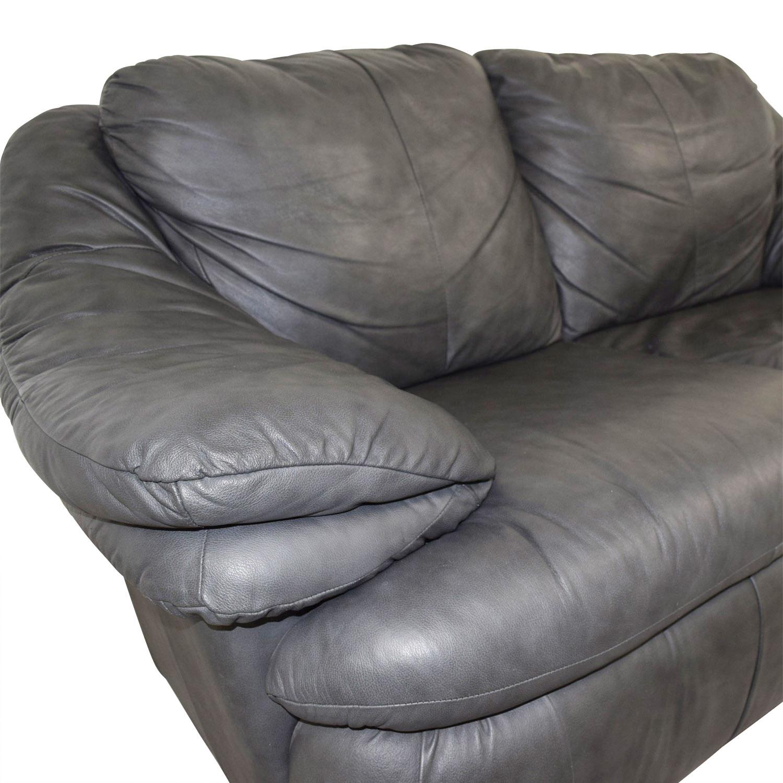 Jennifer Leather Jennifer Leather Natale Grey Love Seat nj