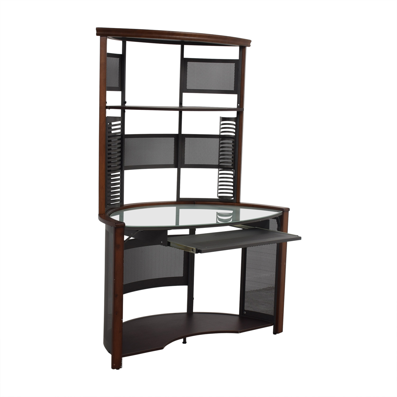 buy Corner Desk with Hutch Home Office Desks