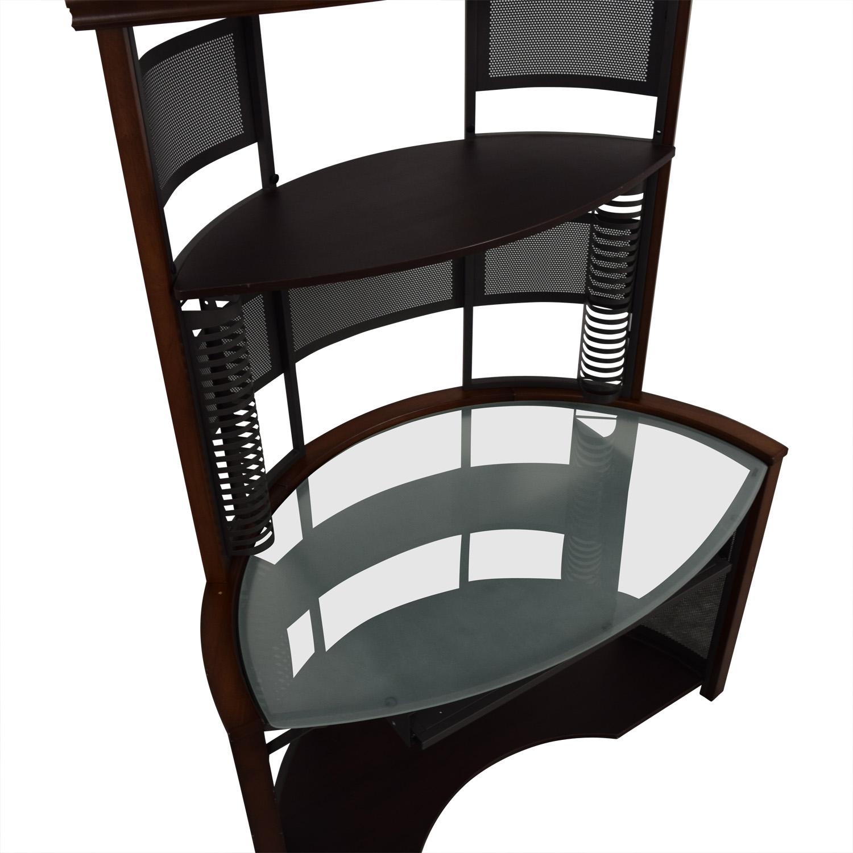 Corner Desk with Hutch dimensions