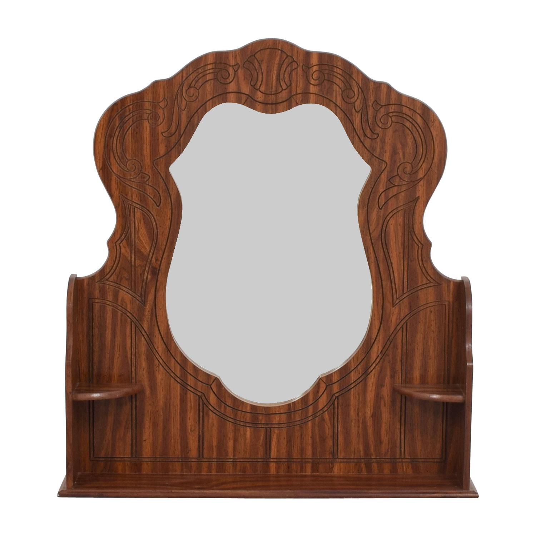 Wood Mirror for Dresser Decor
