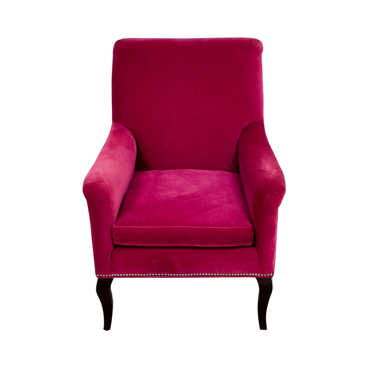 Pink Accent Chair: Crate & Barrel Crate & Barrel Pink Velvet Chair