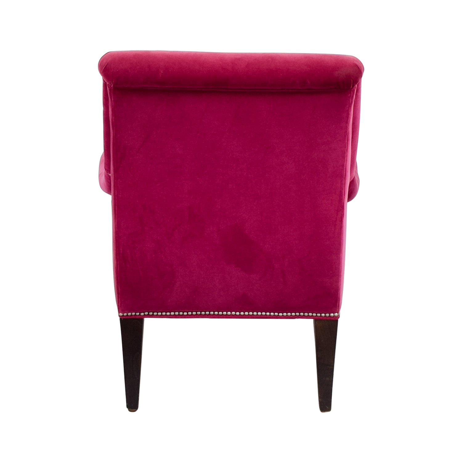 Crate & Barrel Crate & Barrel Pink Velvet Chair Accent Chairs