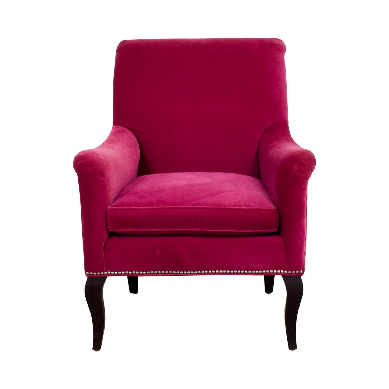 buy Crate & Barrel Crate & Barrel Pink Velvet Chair online