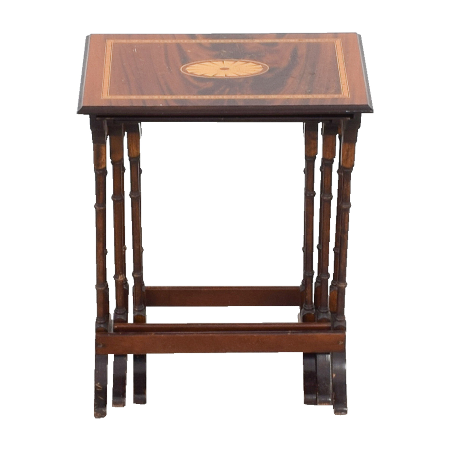 Wood Nesting Tables dimensions