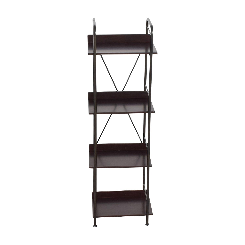84 Off Black Tall Bookcase Storage