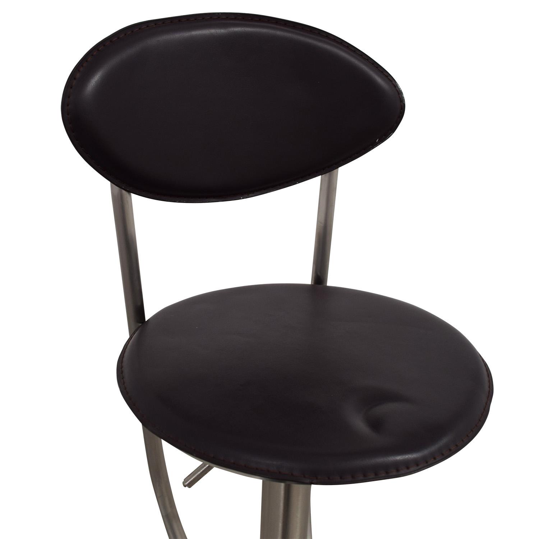 Circular Brown & Metal Stool on sale