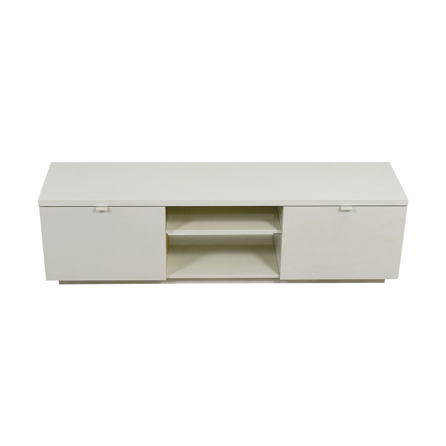 White Media Unit with Storage for sale
