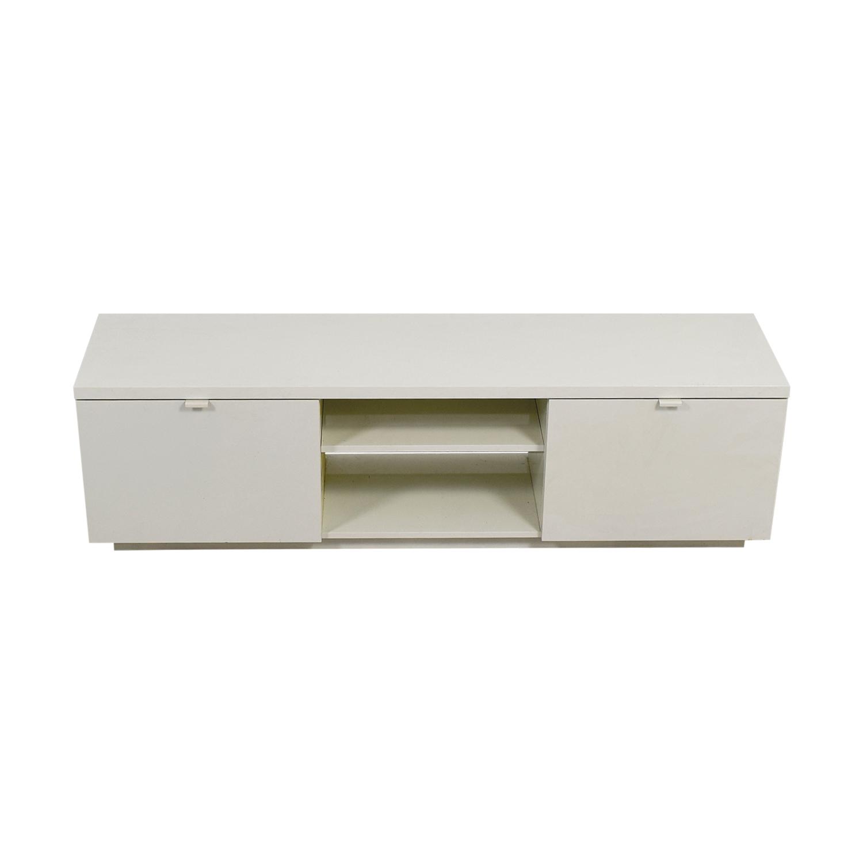 buy White Media Unit with Storage Storage