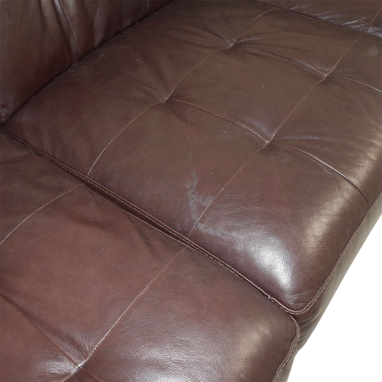 Macys Brown Tufted Leather Couch Macys