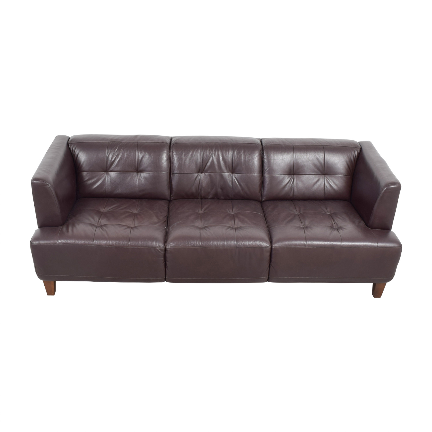 Incroyable ... Shop Macyu0027s Brown Tufted Leather Couch Macyu0027s ...