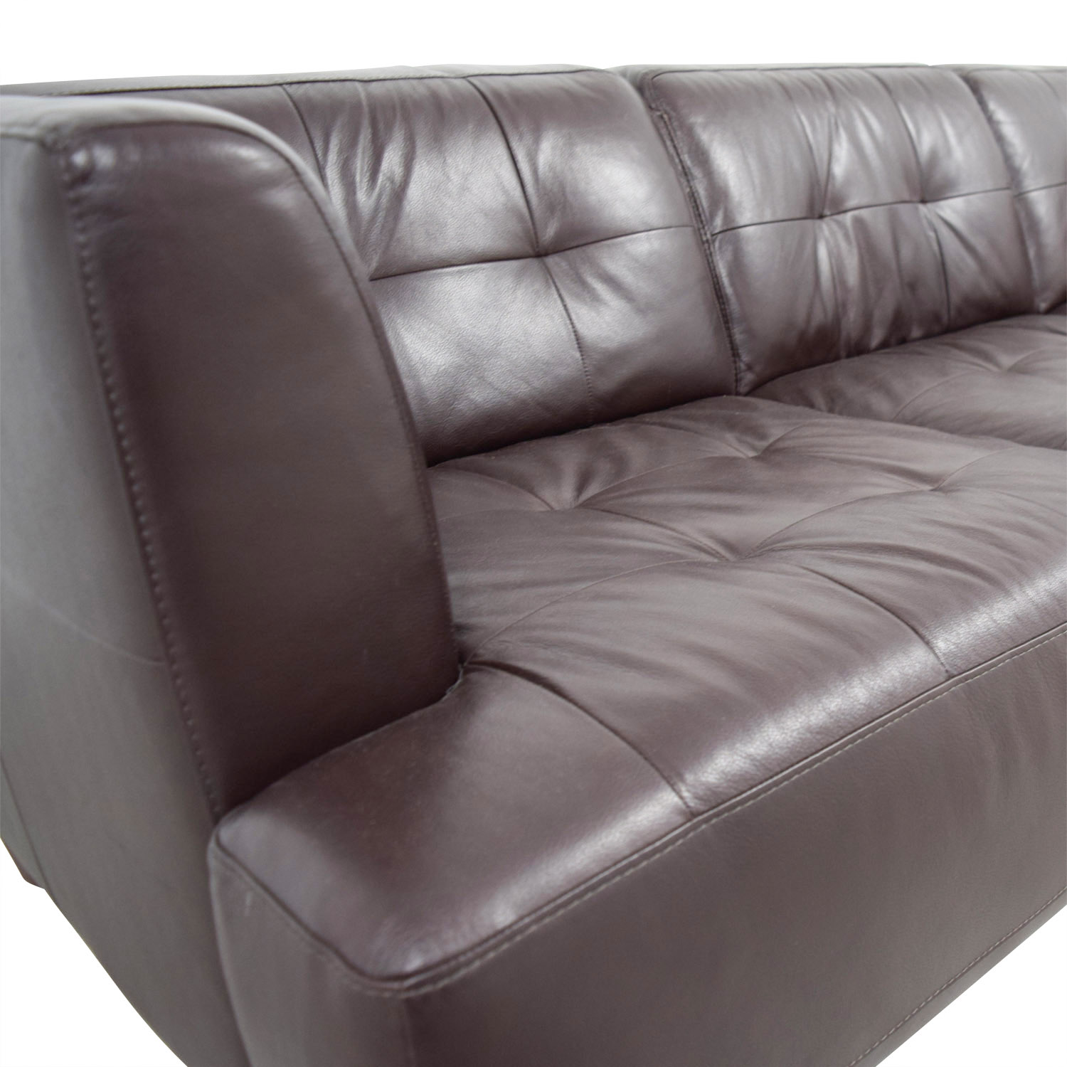 shop Macys Brown Tufted Leather Couch Macys