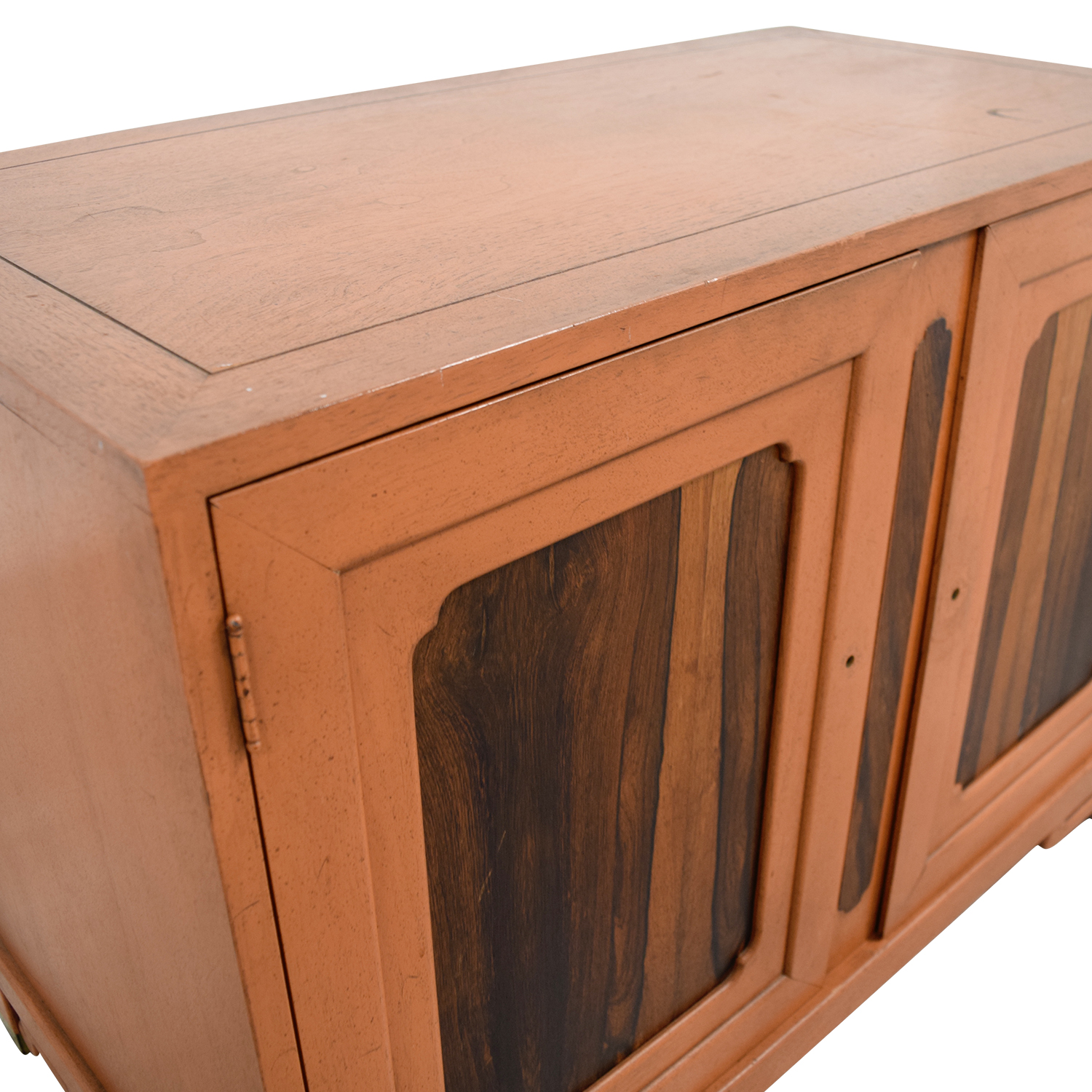 shop Unknown Wood Cabinet with Two Shelves online
