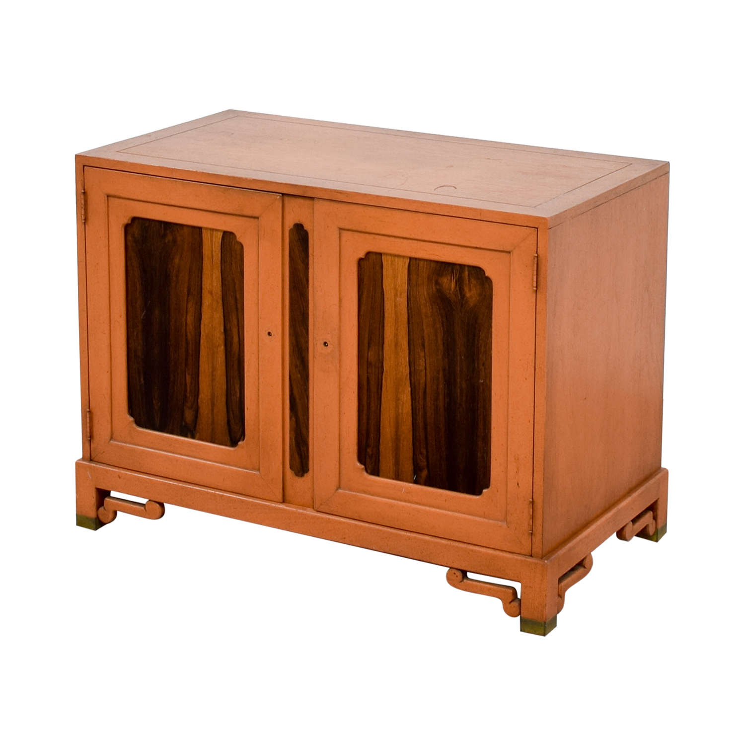 Unknown Wood Cabinet with Two Shelves Storage