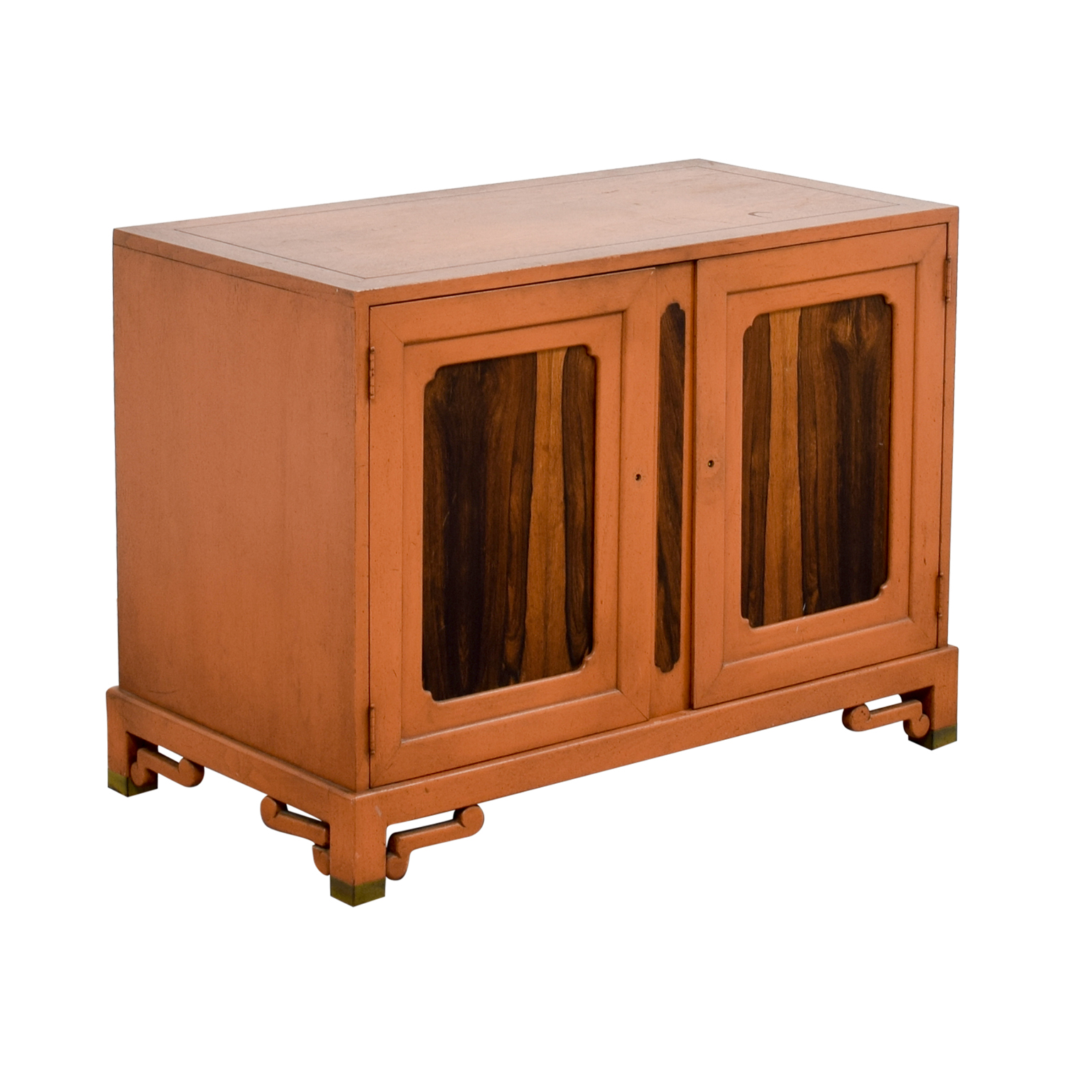 Unknown Wood Cabinet with Two Shelves Cabinets & Sideboards