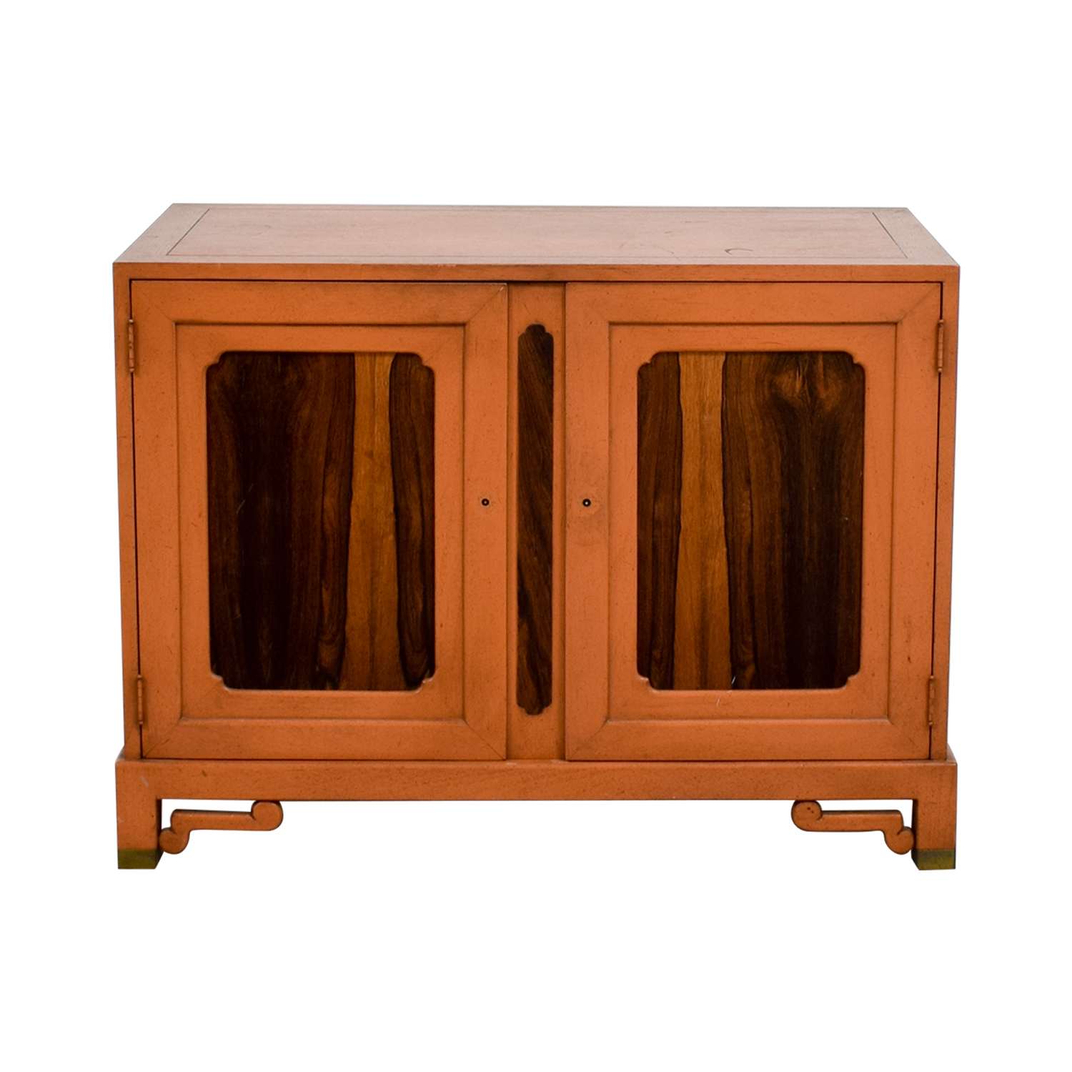 shop Unknown Wood Cabinet with Two Shelves Storage