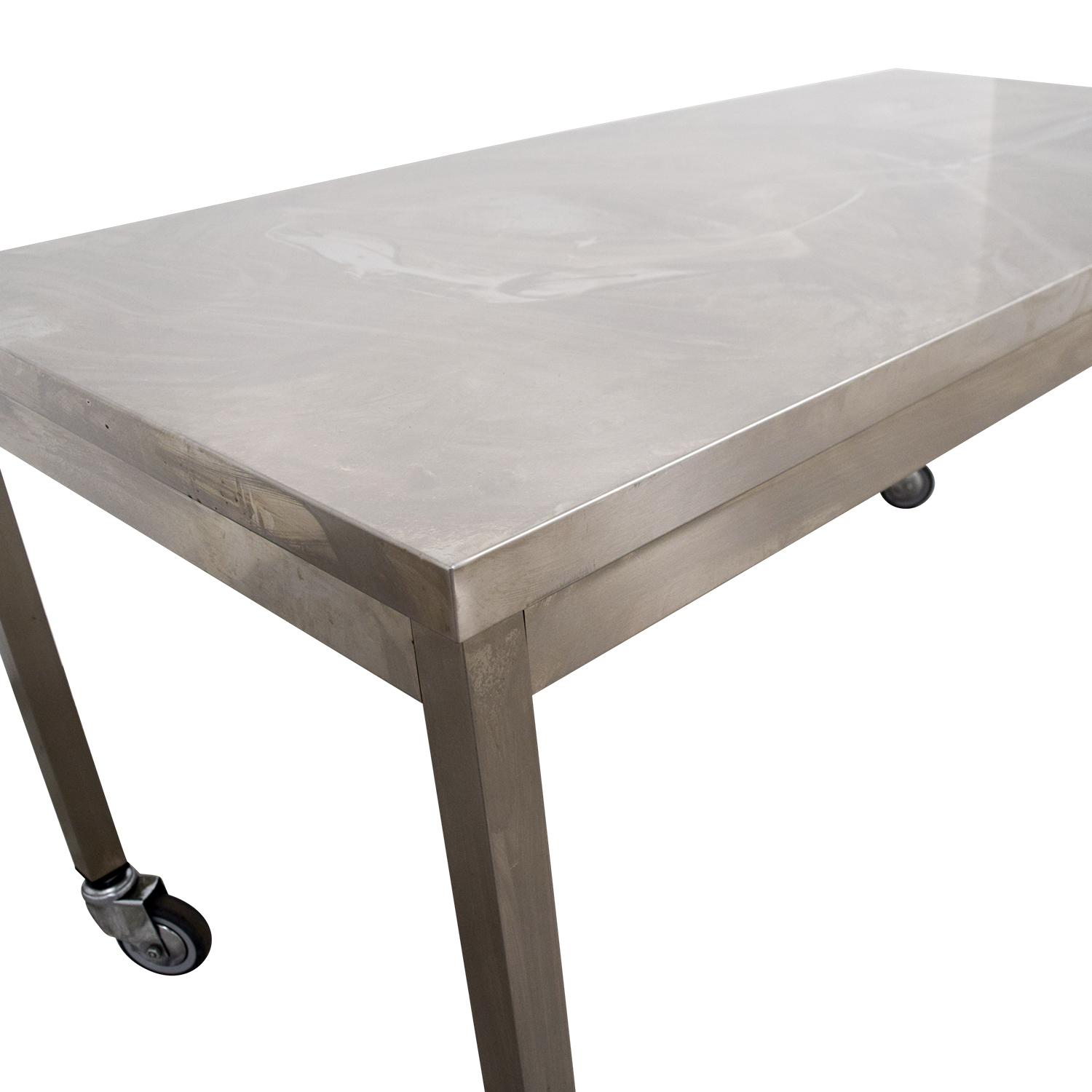 59 Off Wheeled Utility Metal Table Tables