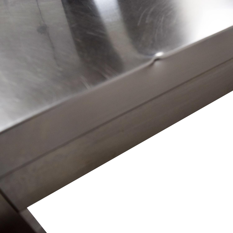 Wheeled Utility Metal Table