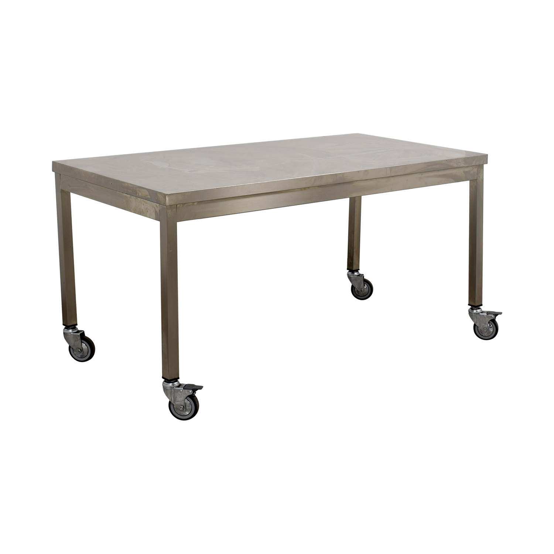 buy Wheeled Utility Metal Table online