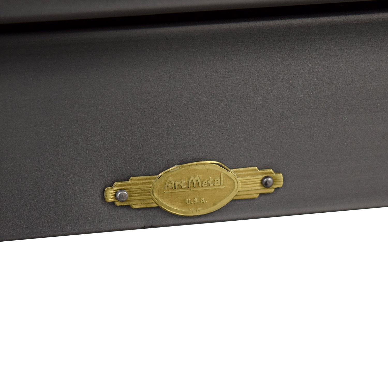 Sonrisa Furniture Sonrisa Furniture Grey Metal Table nyc
