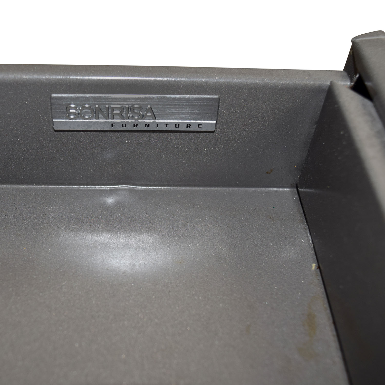 Sonrisa Furniture Sonrisa Furniture Grey Metal Table Grey Metal