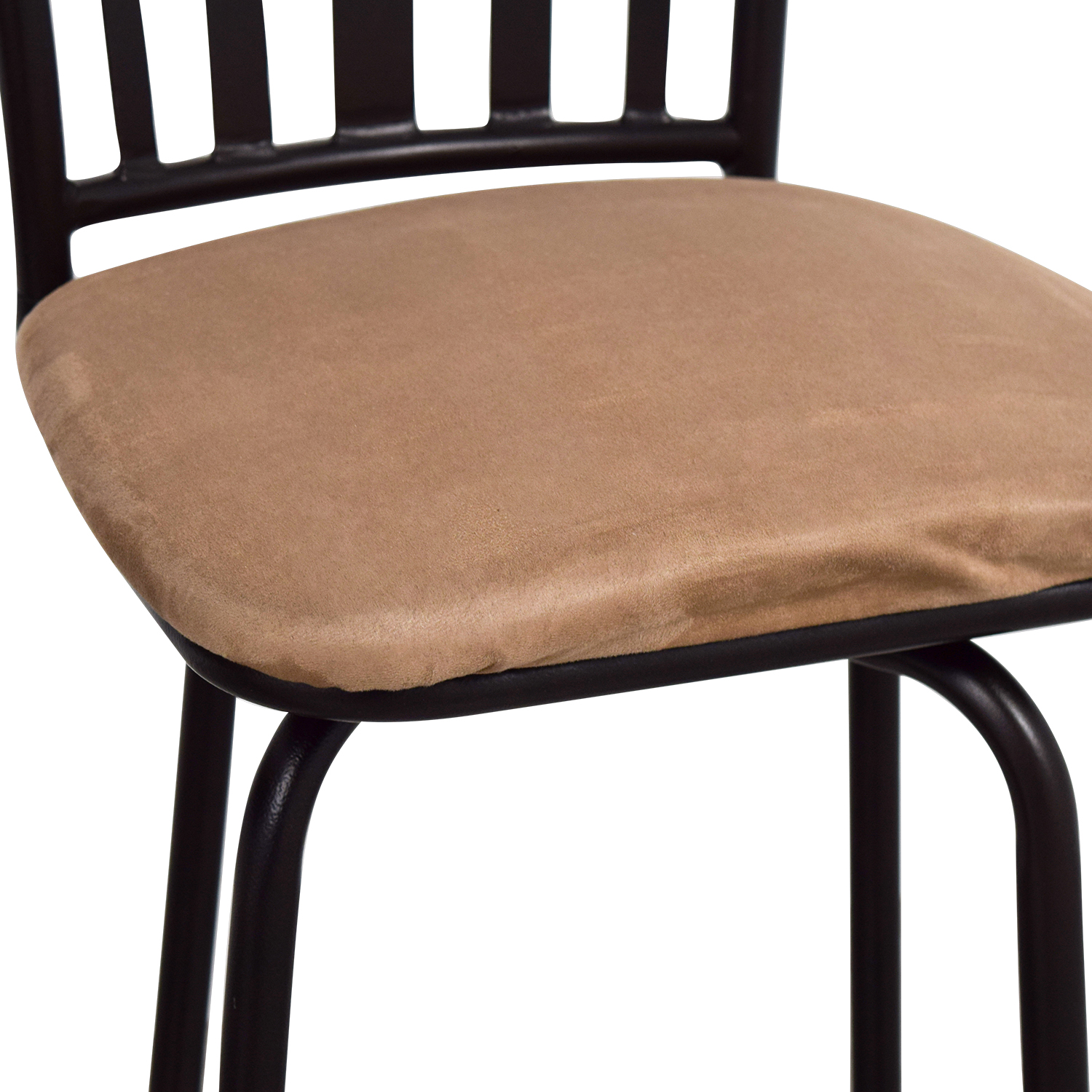 Tan Upholstered Stools with Black Frame used