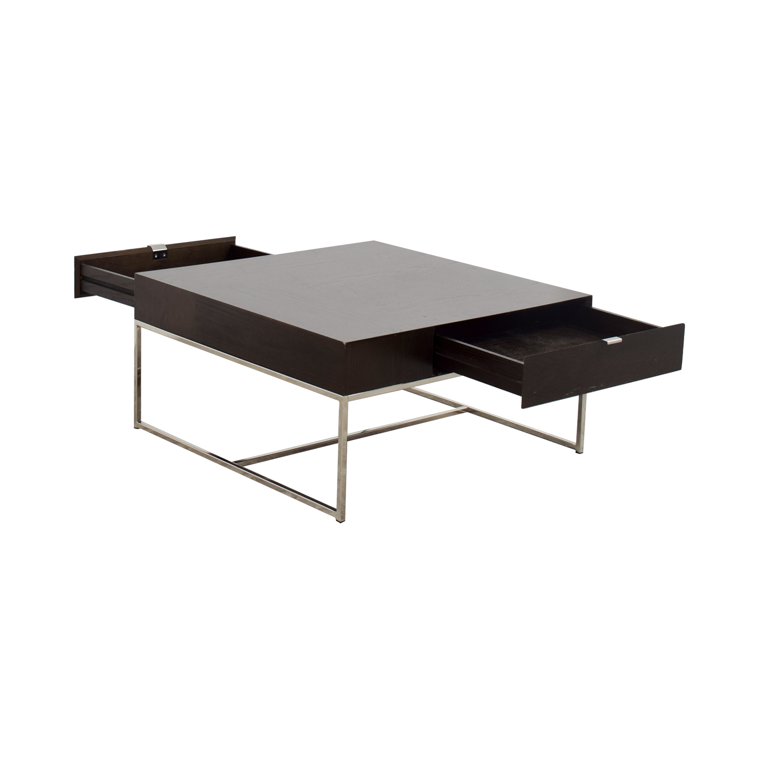 84 Off West Elm West Elm Square Coffee Table With Drawers Tables