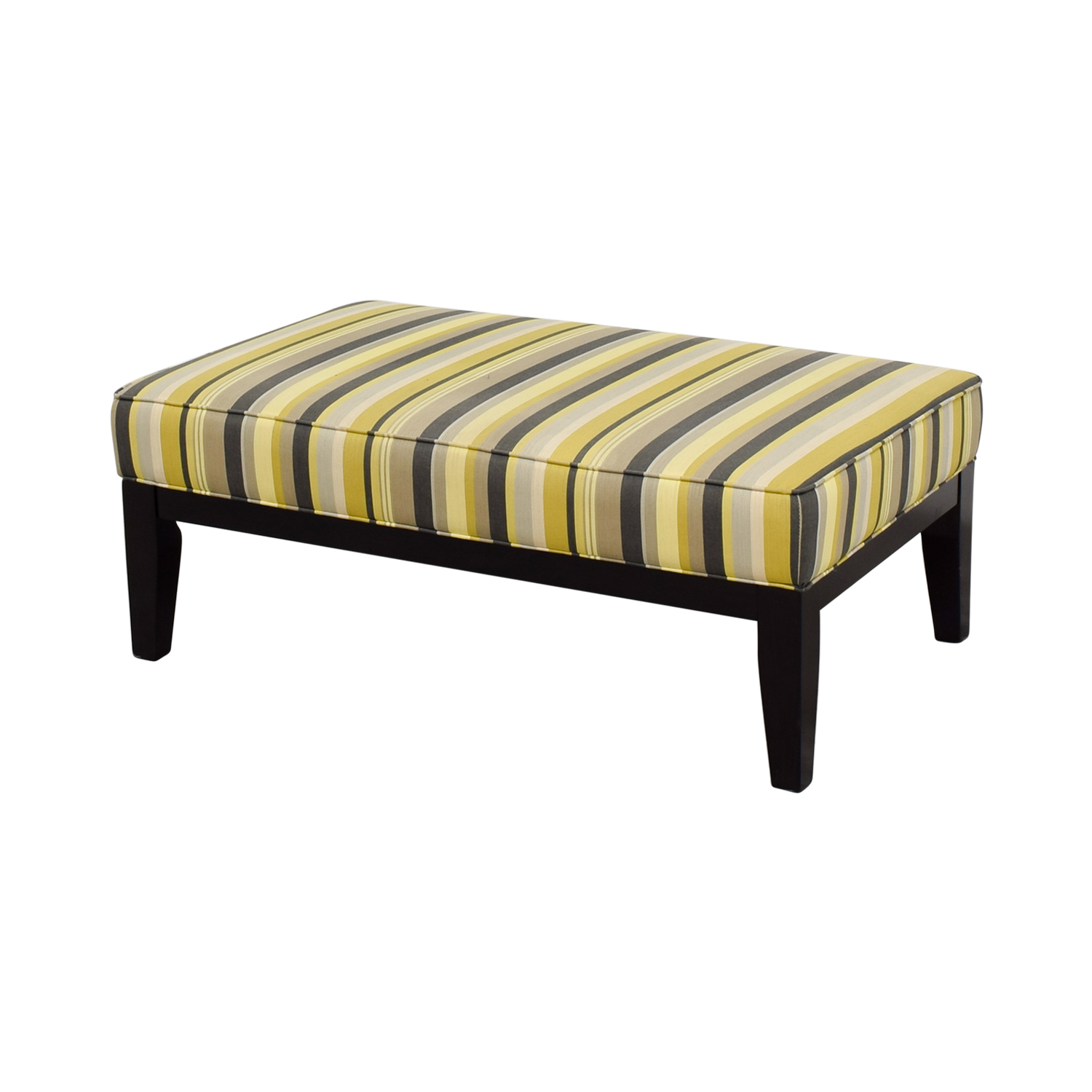 buy Raymour & Flanigan Yellow Green and Grey Striped Oversized Ottoman Raymour & Flanigan Chairs