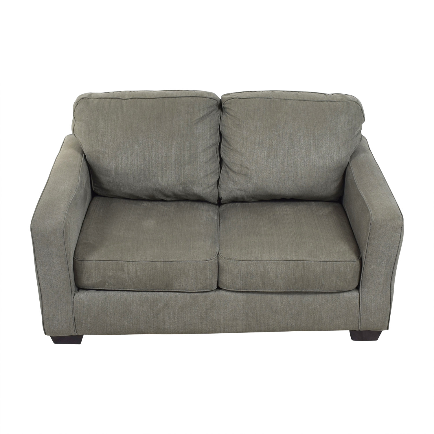 shop Raymour & Flanigan Raymour & Flanigan Slate Grey Two-Cushion Sofa online