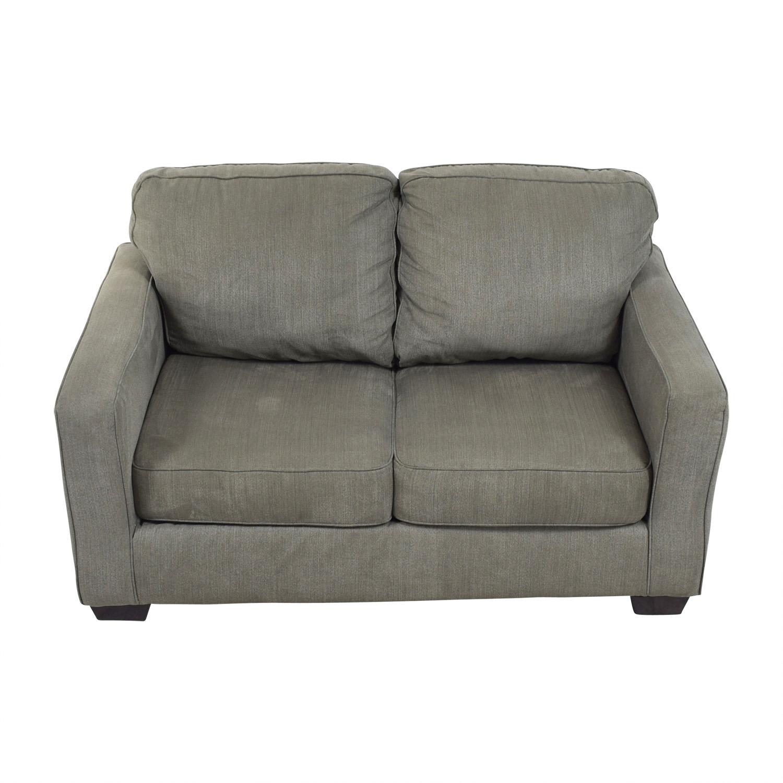Raymour & Flanigan Raymour & Flanigan Slate Grey Two-Cushion Sofa used
