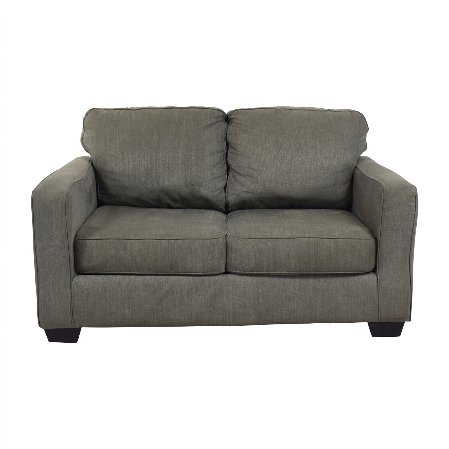 Raymour & Flanigan Raymour & Flanigan Slate Grey Two-Cushion Sofa