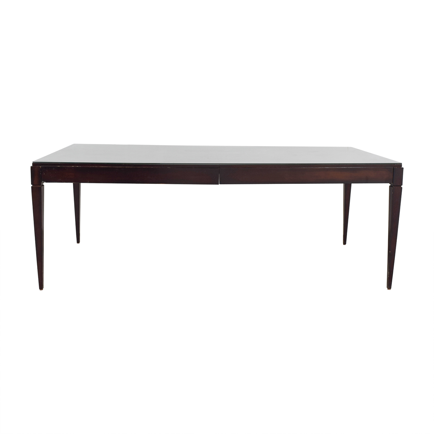Restoration Hardware Restoration Hardware Cherry Table with Glass Top