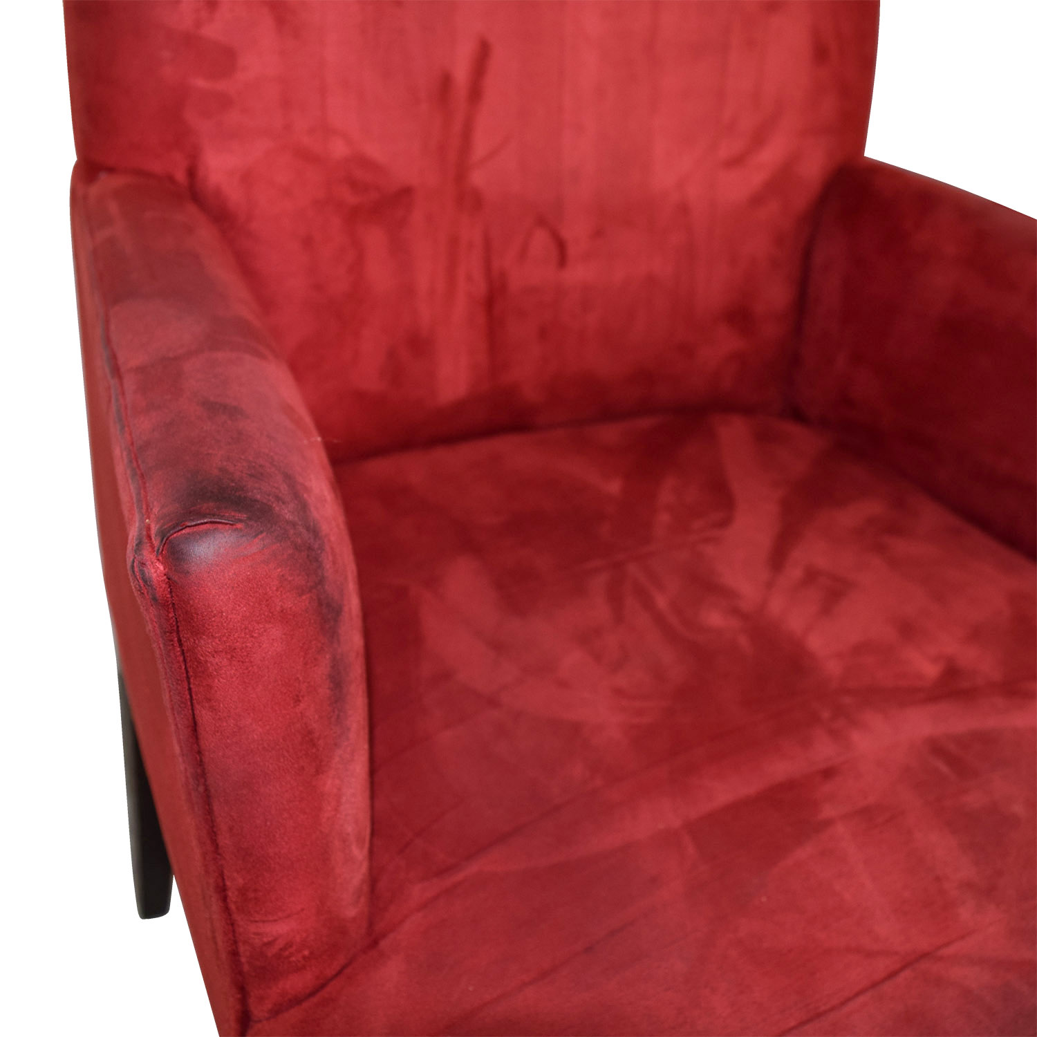 Crate & Barrel Crate & Barrel Microsuede Cranberry Chairs nyc