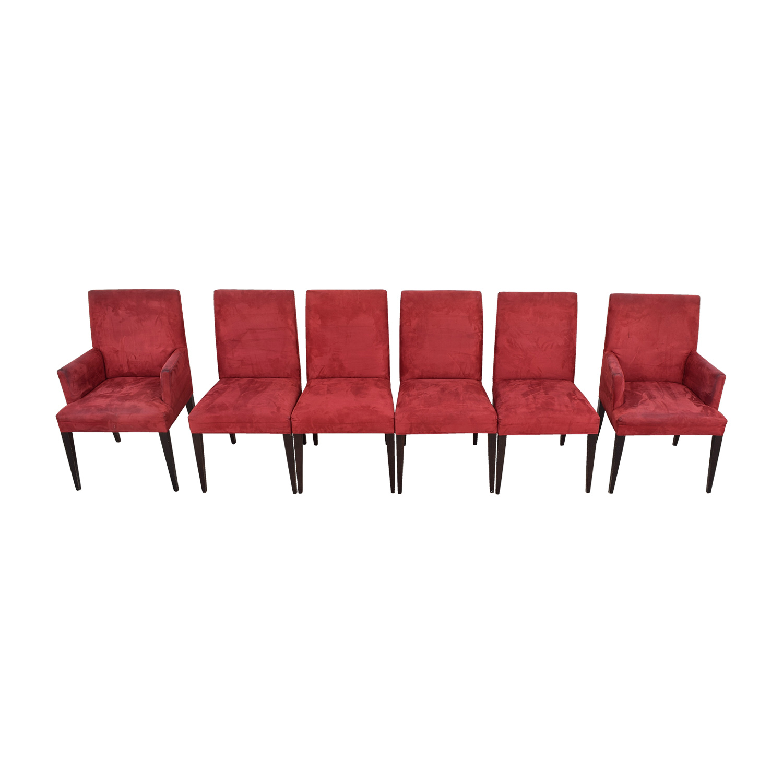 Crate & Barrel Crate & Barrel Microsuede Cranberry Chairs price