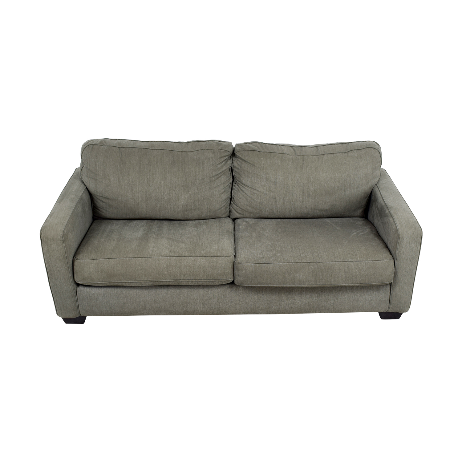 buy Raymour & Flanigan Grey Two-Cushion Sofa Raymour & Flanigan Sofas