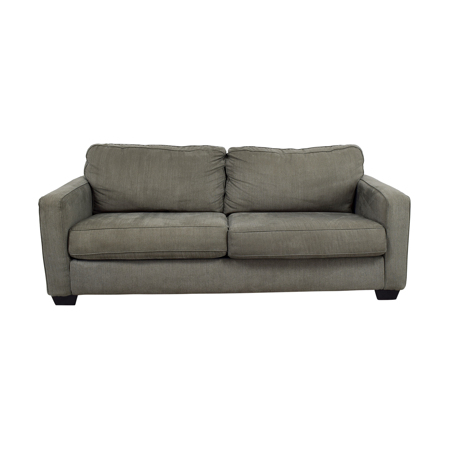 Raymour & Flanigan Raymour & Flanigan Grey Two-Cushion Sofa second hand