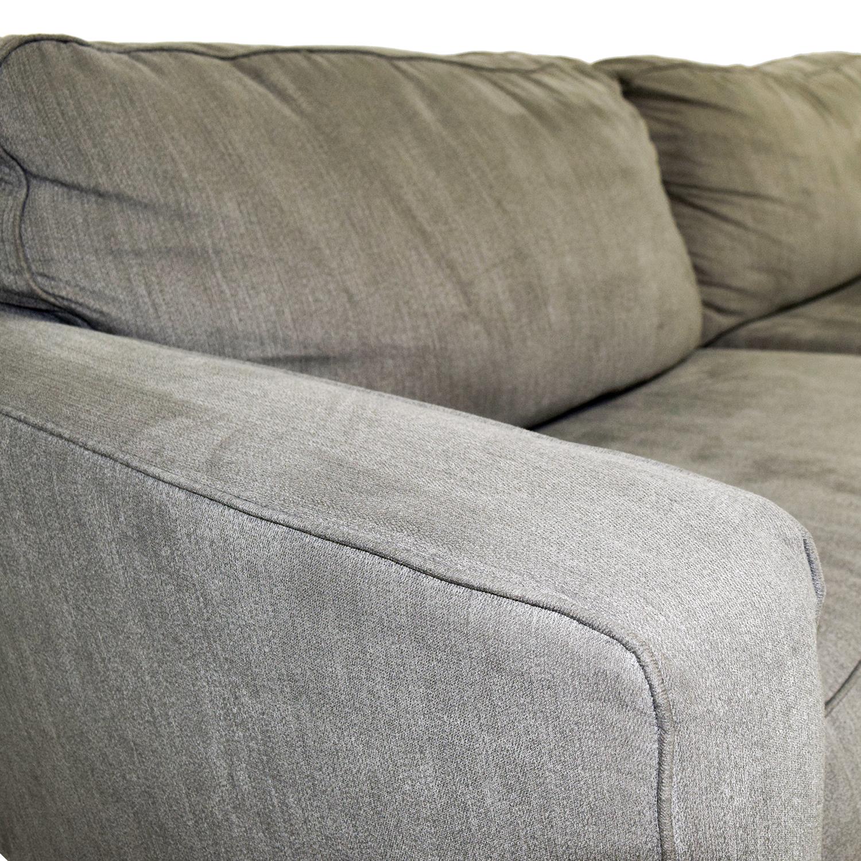 Raymour & Flanigan Raymour & Flanigan Grey Two-Cushion Sofa for sale