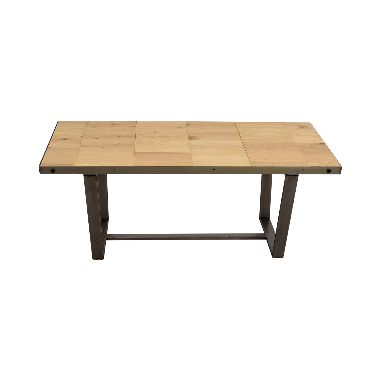 Patrick Cain Beech and Metal Dining Table Patrick Cain