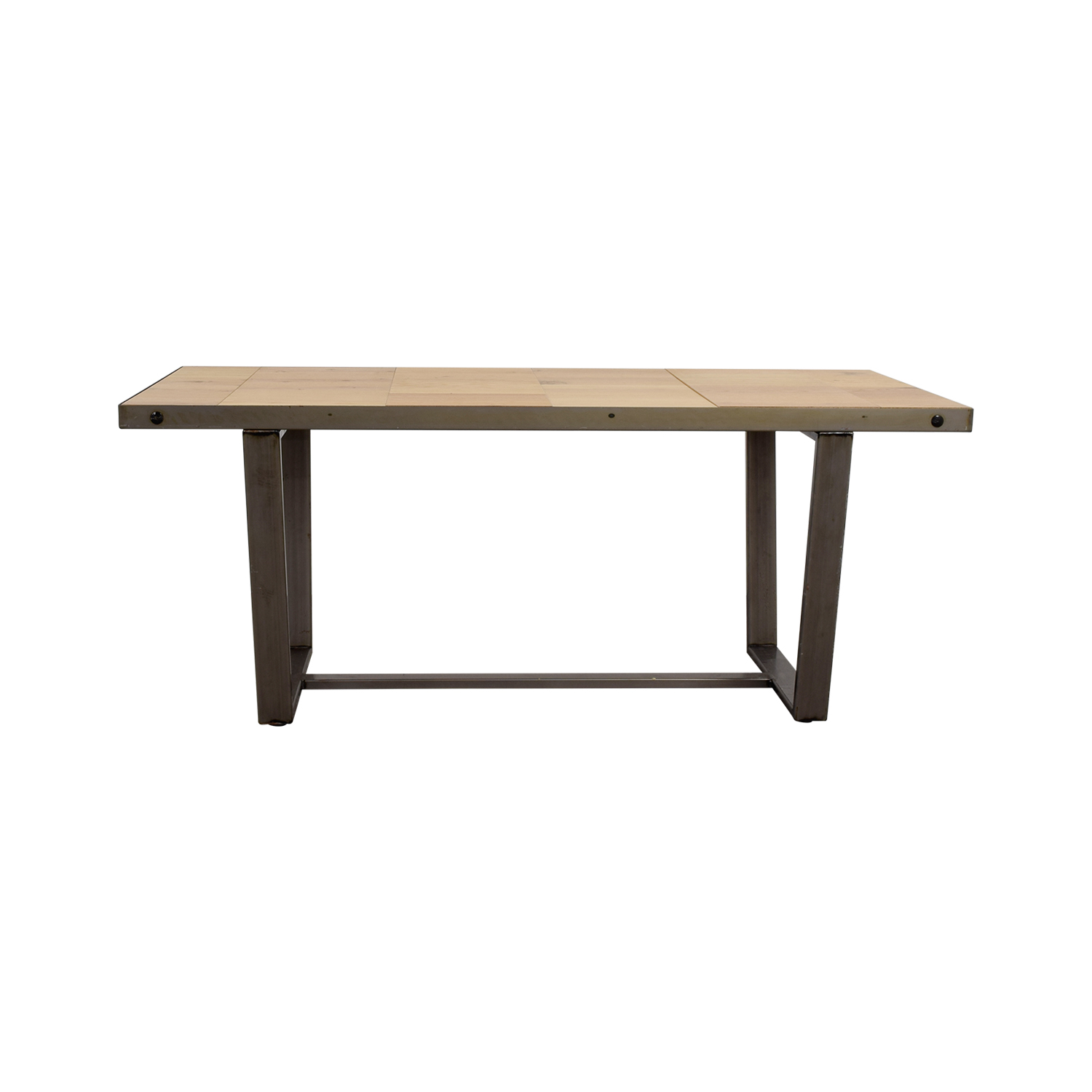 Patrick Cain Patrick Cain Beech and Metal Dining Table