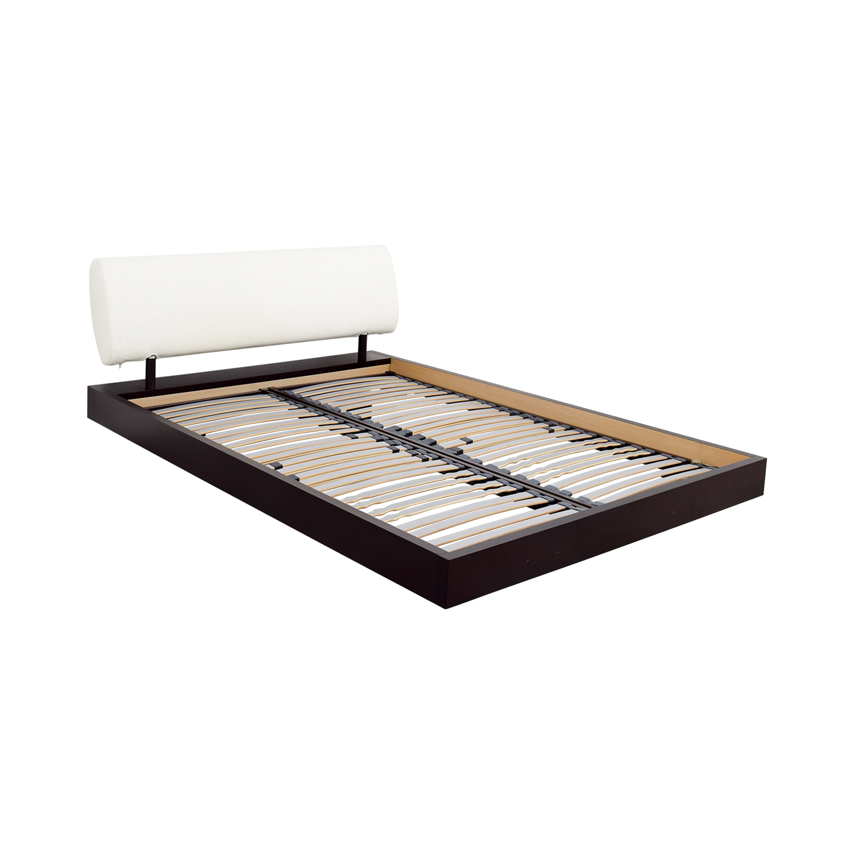 Roche Bobois Roche Bobois Reflet Queen Bed Frame Mahogany / Cream