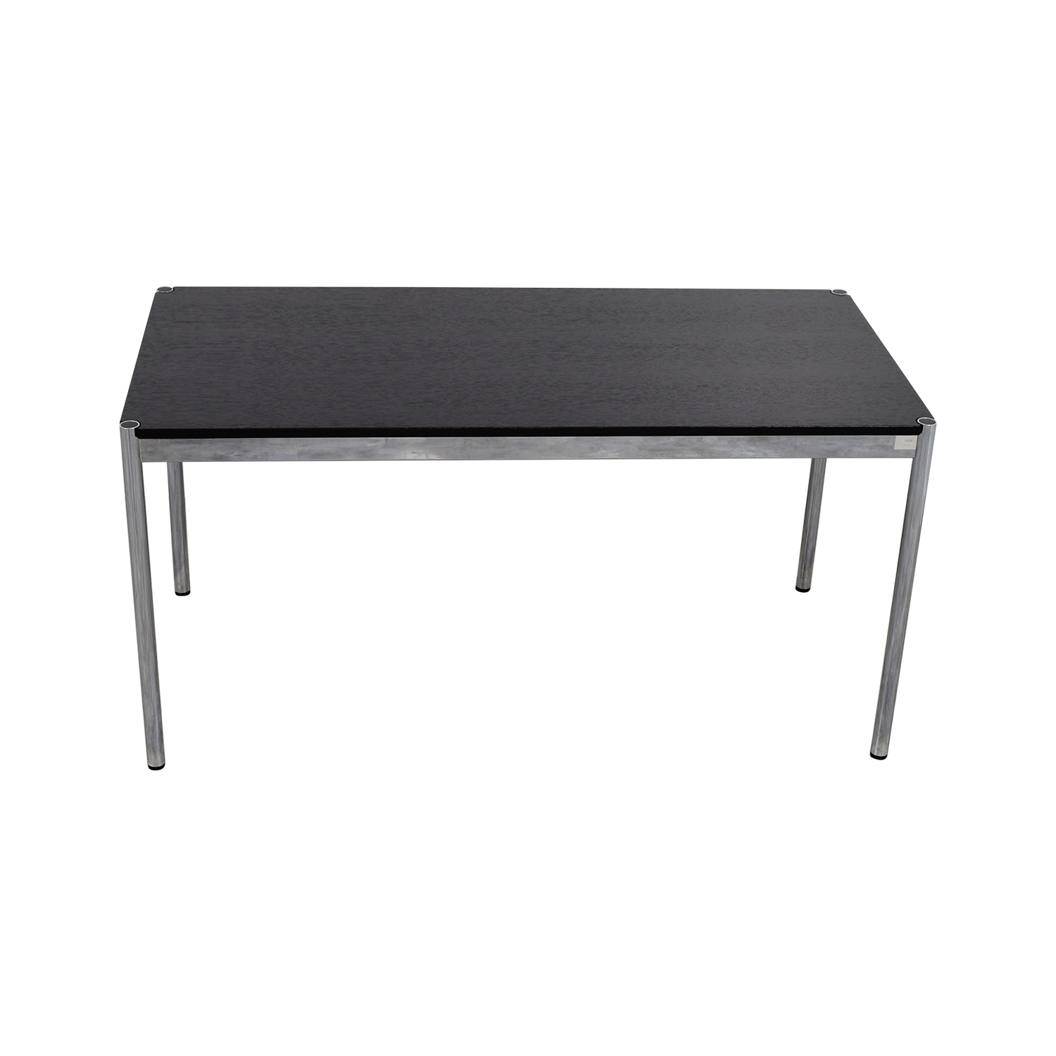 The Conran Shop The Conran Shop Haller Black and Chrome Dining Table nj