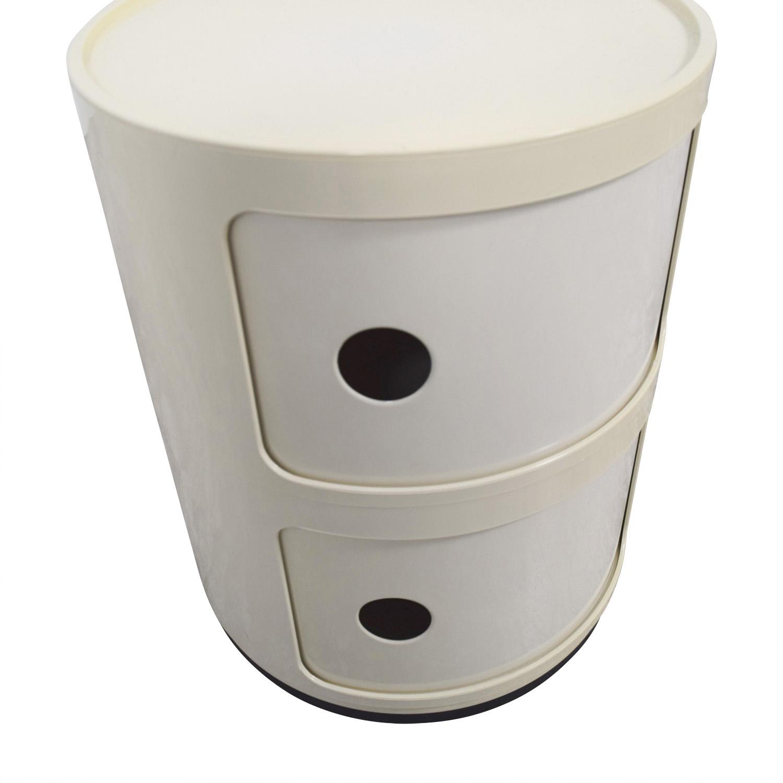 Kartell Kartell Componibili Vanilla Round Storage End Table