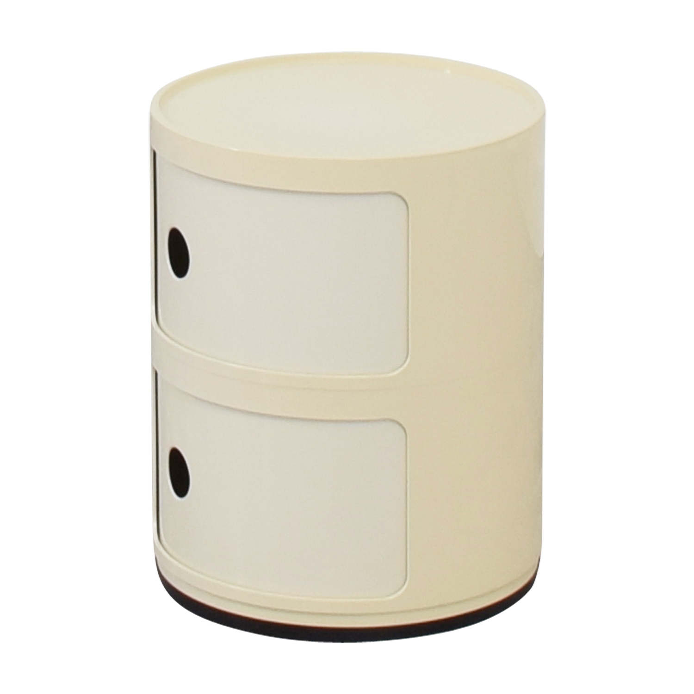 Kartell Kartell Componibili Vanilla Round Storage End Table second hand