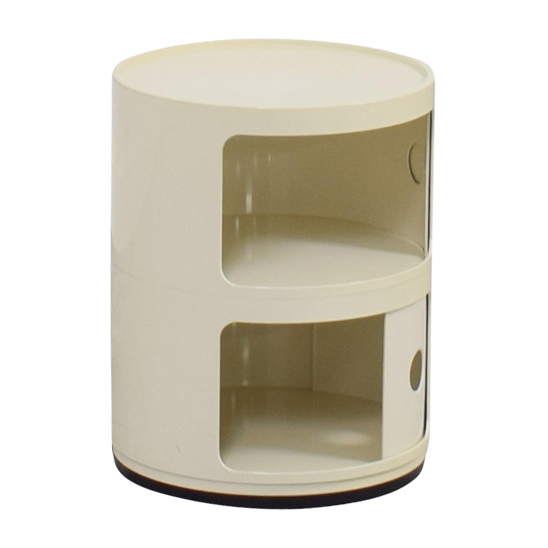 shop Kartell Kartell Componibili Vanilla Round Storage End Table online