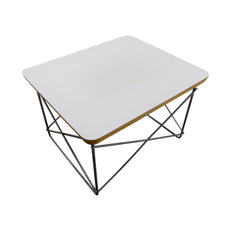 Herman Miller Herman Miller Eames Wire-Base Table White / Chrome