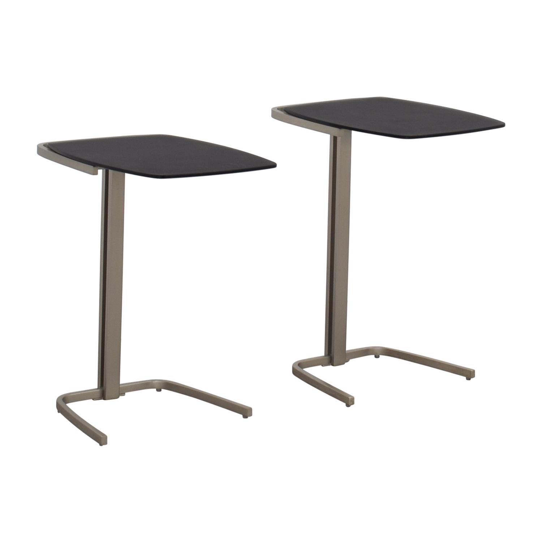 BoConcept Black & Chrome Nesting Tables / End Tables