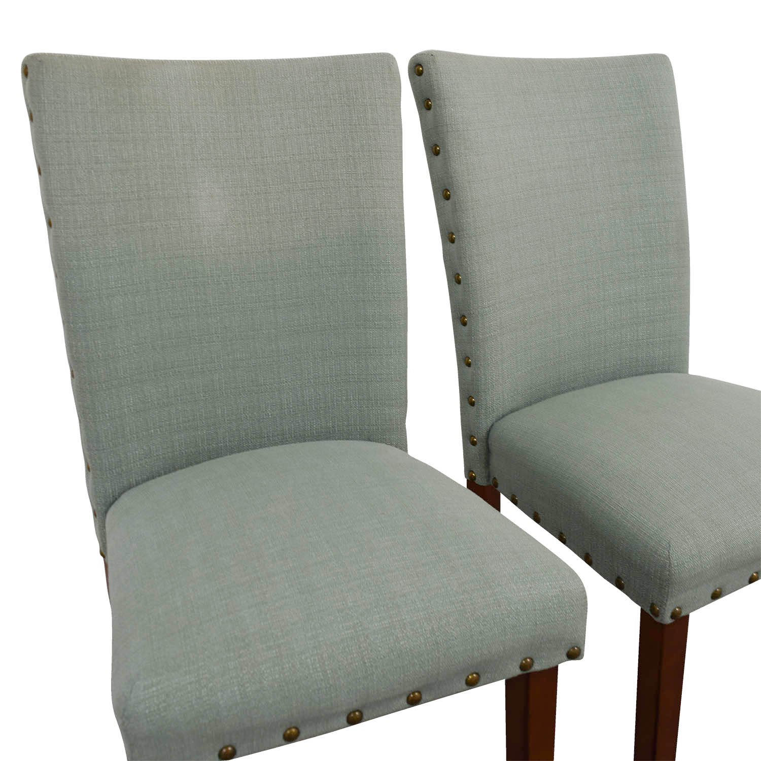 Seafoam Upholstered Nailhead Chairs / Accent Chairs