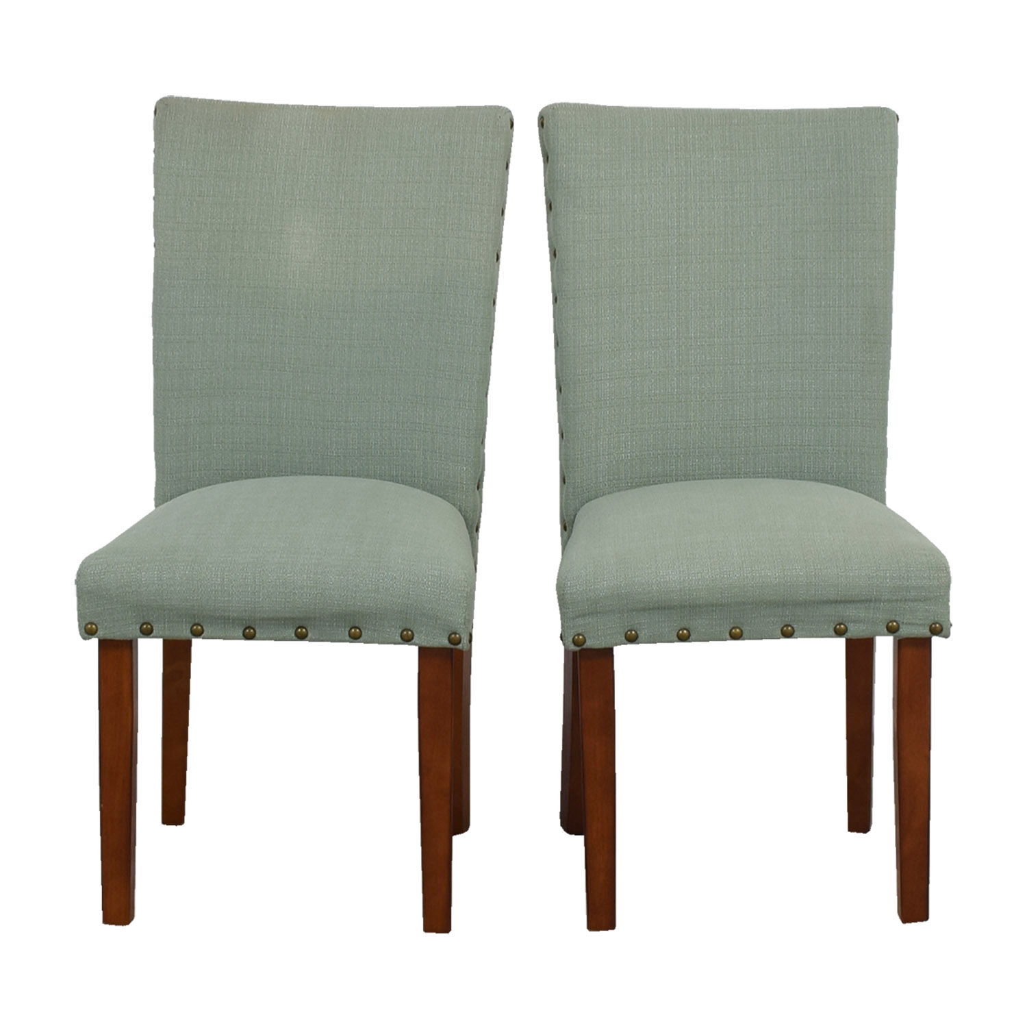 Seafoam Upholstered Nailhead Chairs Accent Chairs